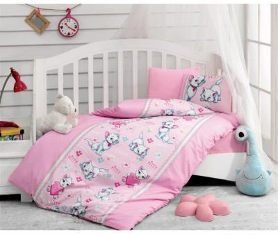 Комплект постельного белья детский Коттон Бокс в кроватку Miyav Pembe