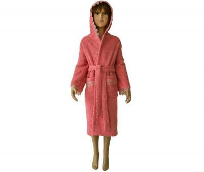 412 Халат махровый детский 9-12 лет Розовый