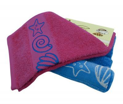 Комплект полотенец махровый 2 штуки Ракушки