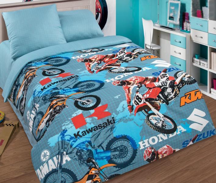 Комплект постельного белья Арт-постель поплин Мотокросс