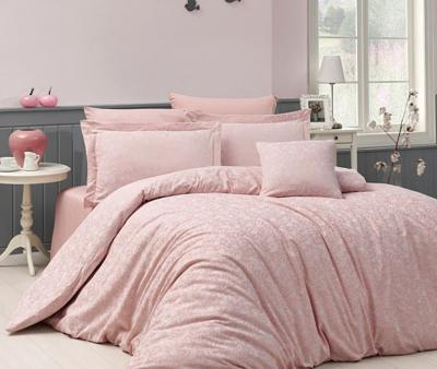 Комплект постельного белья Назезин Serena Pudra сатин жаккард