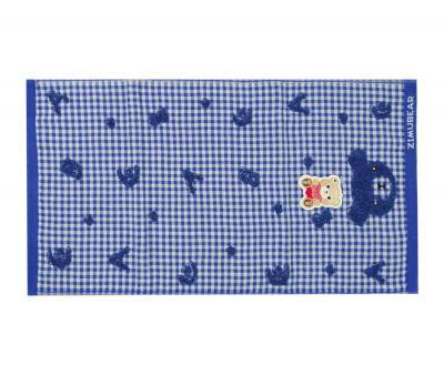 Полотенце детское махровое 25х50 Zimubear Синий