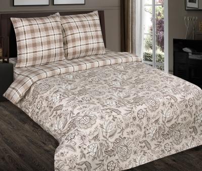 Комплект постельного белья  с простынью на резинке Арт-постель 931 поплин Ода