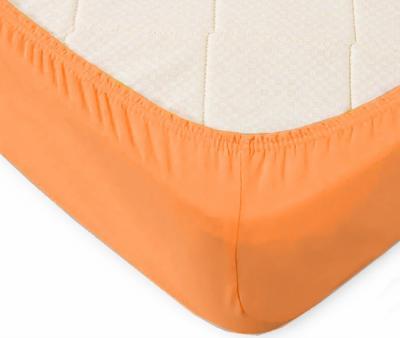 Простынь на резинке Трикотажная Оранжевый