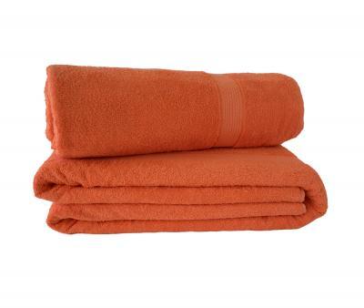 Простынь махровая 1016 Разноцвет Оранжевый