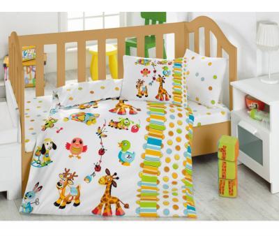 Комплект постельного белья детский Коттон Бокс в кроватку Oyun Bahcesi Turkuaz