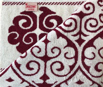 Полотенце махровое Пестроткань Бордовый
