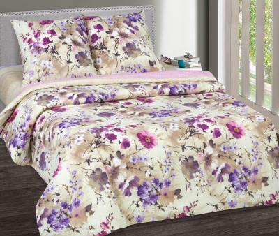 Комплект постельного белья  с простынью на резинке Арт-постель 931 поплин Памела