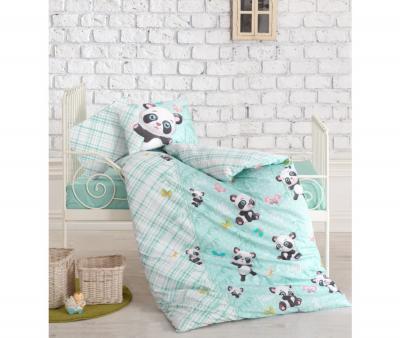 Комплект постельного белья детский Коттон Бокс в кроватку Panda Mint