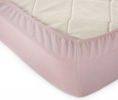 Простынь на резинке Трикотажная Пепельно-розовый