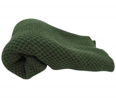 Плед детский вязанный TAC 100х120 темно-зеленый