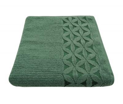 Полотенце 450 гр Дорук Цветы Темно зеленый