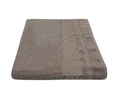 Полотенце 450 гр Дорук Бамбук Вензеля Светло-коричневый