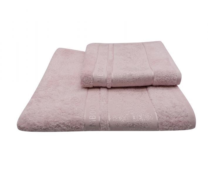 Полотенце Miss Cotton жаккард Бледно-розовый