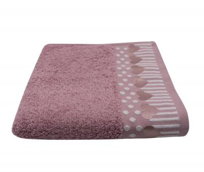 Полотенце Miss Cotton Орнамент Сердца Розовый
