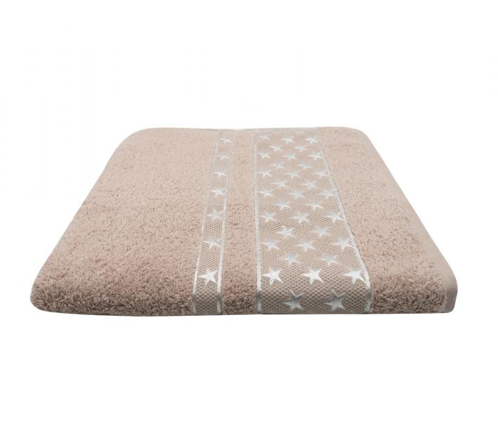 Полотенце Miss Cotton Орнамент Звёзды Бежевый