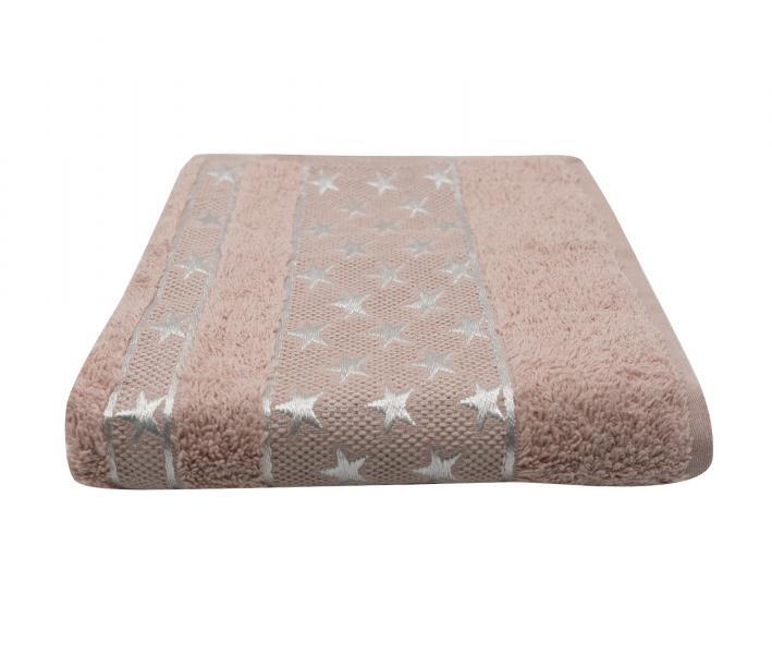 Полотенце Miss Cotton Орнамент Звёзды Бледно-розовый