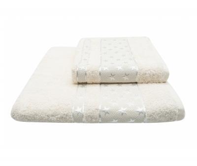 Полотенце Miss Cotton Орнамент Звёзды Молочный