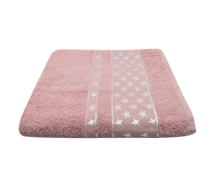 Полотенце Miss Cotton Орнамент Звёзды Розовый