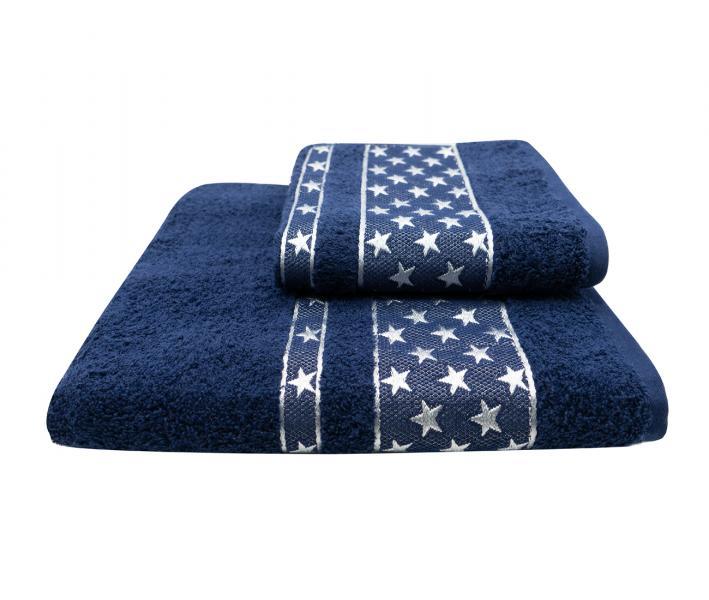 Полотенце Miss Cotton Орнамент Звёзды Синий