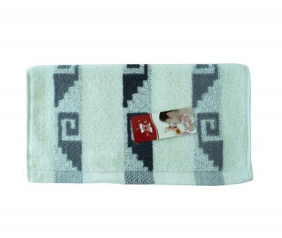 Полотенце кухонное махровое Лабиринт серый
