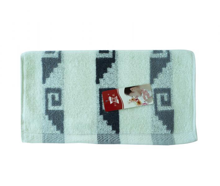 Полотенце кухонное махровое (33x74) Лабиринт серый