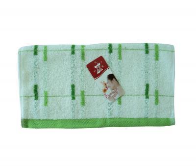 Полотенце кухонное махровое (33x74) Полоски сел-зел