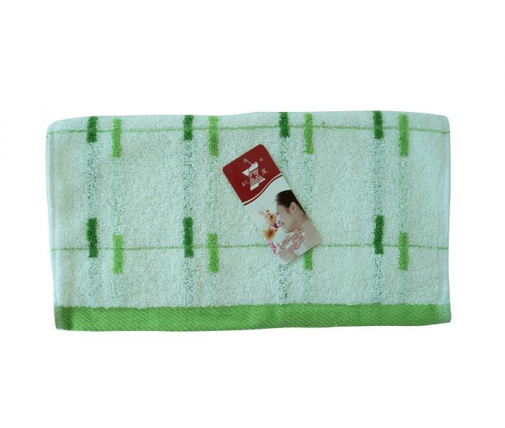 Полотенце кухонное махровое Полоски сел-зел