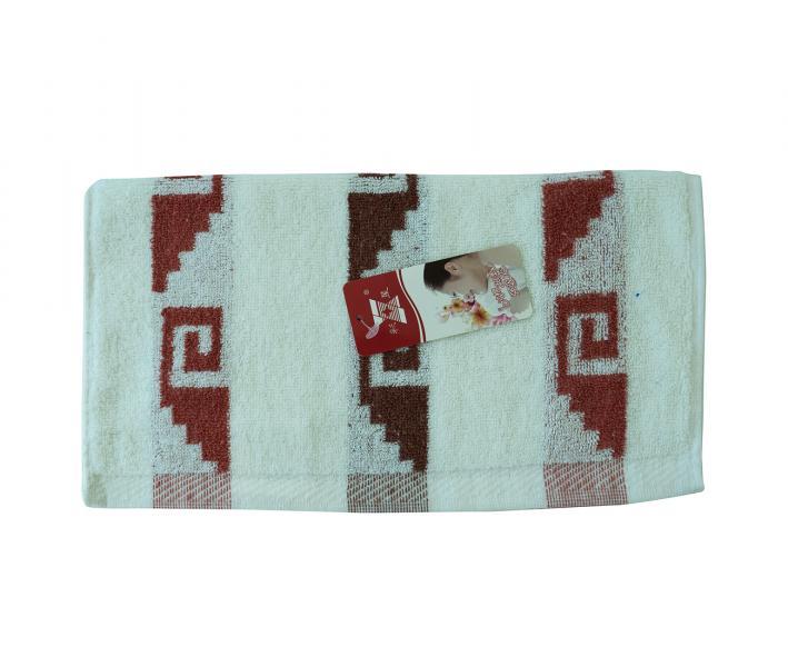 Полотенце кухонное махровое Лабиринт красный