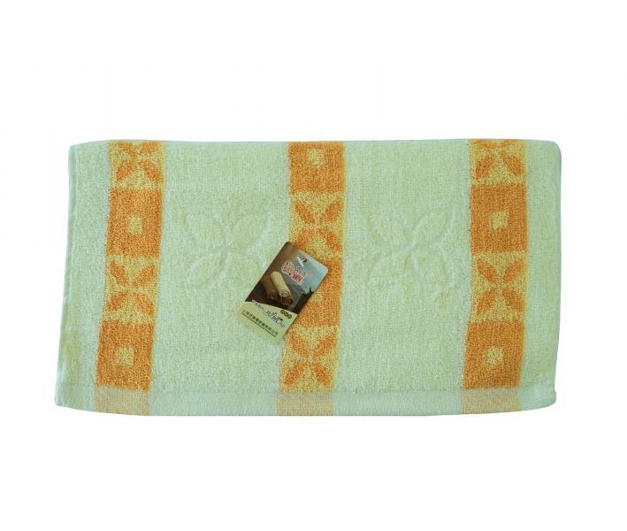 Полотенце кухонное махровое Желтые полоски