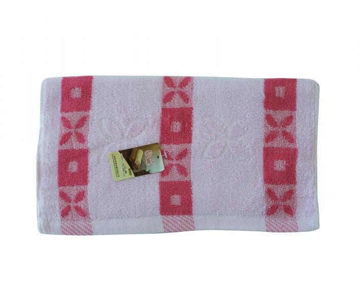 Полотенце кухонное махровое Розовые полоски