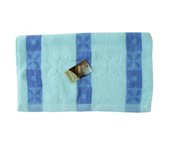 Полотенце кухонное махровое (33x74)  Синие полоски