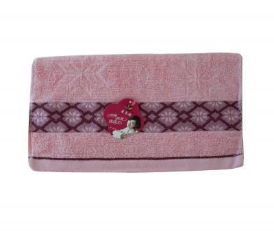 Полотенце кухонное махровое (33x74) Розовый