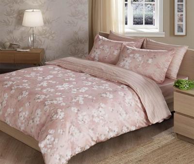 Постельное белье сатин TAC Delux Shadow Розовый