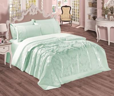 Комплект постельного белья Sekerbibi Pike Takimi + покрывало (6 предметов) Мятный