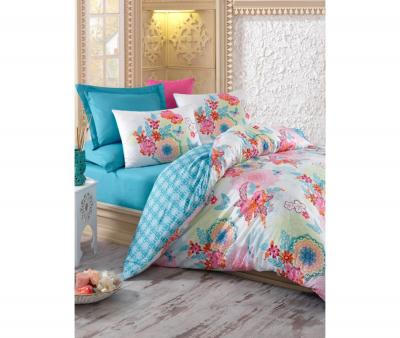 Комплект постельного белья Коттон Бокс сатин Rainbow Mint