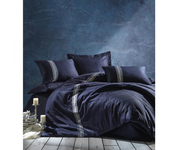 Комплект постельного белья Коттон Бокс 3D сатин Royal Lacivert