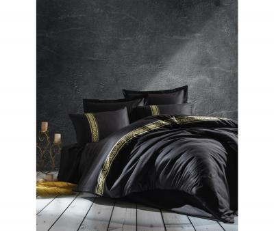 Комплект постельного белья Коттон Бокс 3D сатин Royal Siyah