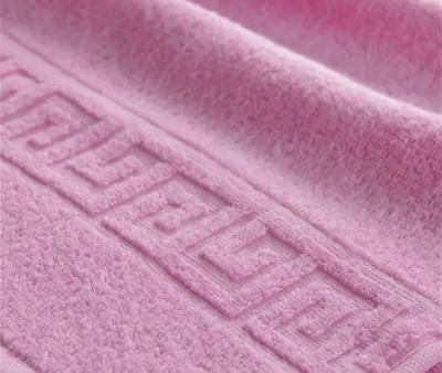 Полотенце Ашхабад с бордюром Розовый
