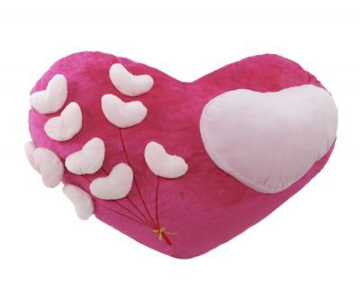 Подушка-игрушка Сердца на розовом