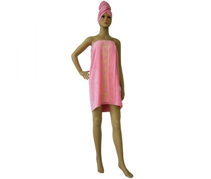 Комплект для бани и сауны Розовый