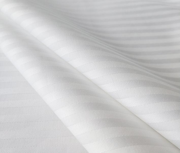 Сатин отбеленный 1x1 см страйп 145 гр 240 см х/б Пакистан Рулон