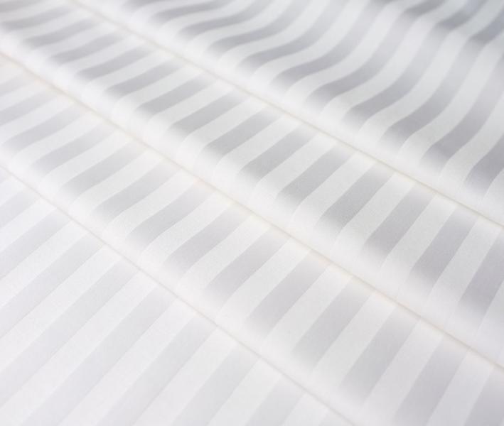Сатин отбеленный 1x1 см страйп 135 гр 240 см cvc Китай Рулон