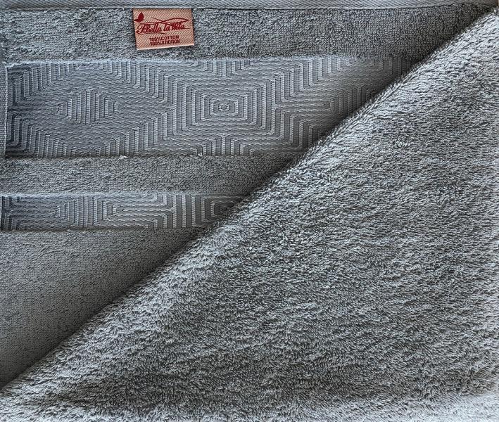 Полотенце махровое Мираж жаккард Тёмно-серый