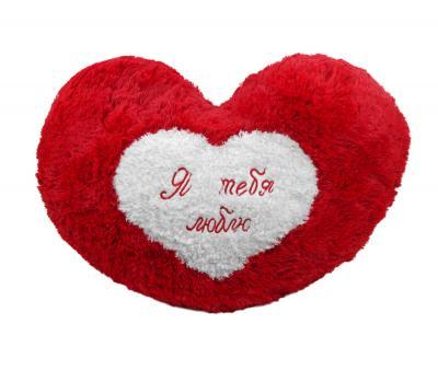 """Подушка-игрушка """"Я тебя люблю"""" Красная"""