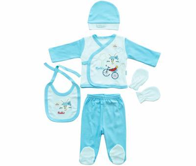Комплект для новорождённых 5 предметов Ramel Зайка
