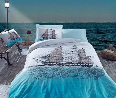Комплект постельного белья Коттон Бокс ранфорс Ship Mavi
