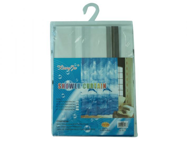 Штора для ванной 180x200 Квадратики