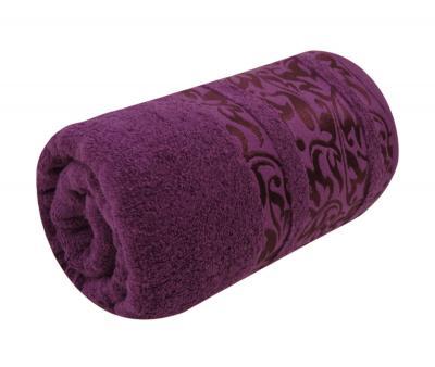 Полотенце махровое Турция 480 гр Дорук Узор Лиан Фиолетовый