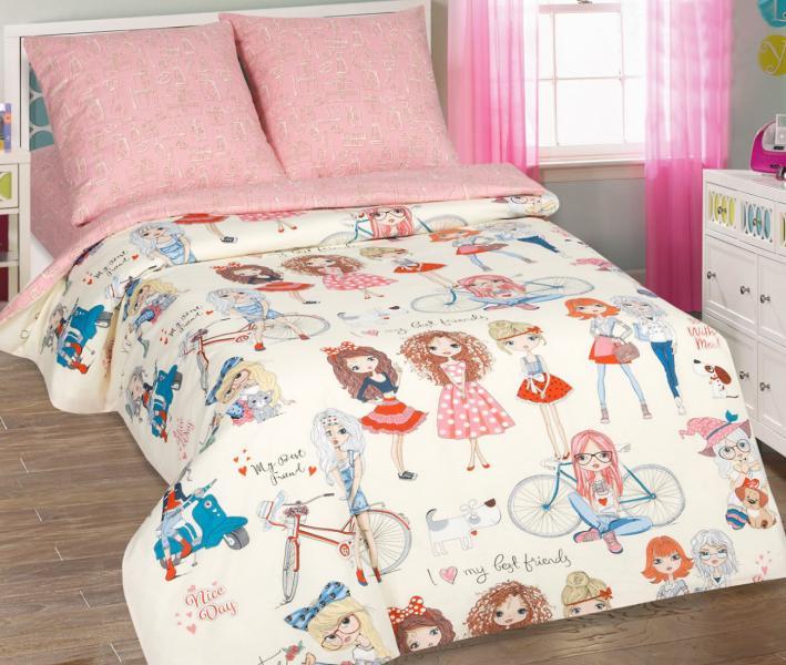 Комплект постельного белья Арт-постель 912 поплин Стиляги